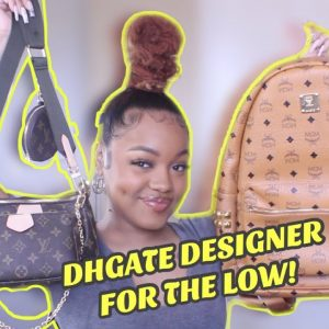 DHGATE Designer FOR LOW | MCM, LV, BALENCIAGA | Boujee Bargains