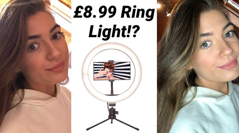 HOME BARGAINS £8.99 RING LIGHT!?✨ || Testing & Review
