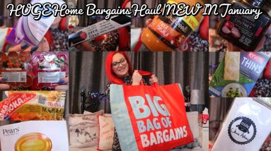 HUGE Home Bargains Haul|NEW IN January