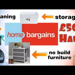 🛍 HUGE £50+ HOME BARGAINS SHOPPING HAUL - January 2021 🆕️ Budget furniture , storage and cleaning