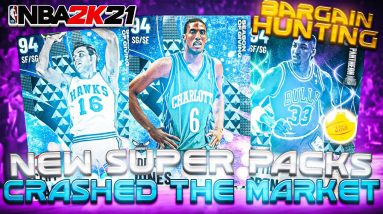 Insane Superpacks Market Crash - Grabbing Some Bargains And Running Them Online! (NBA 2K21 MyTeam)