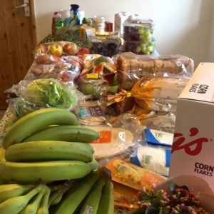 Vegetarian Morrisons haul with yellow labels and bargains
